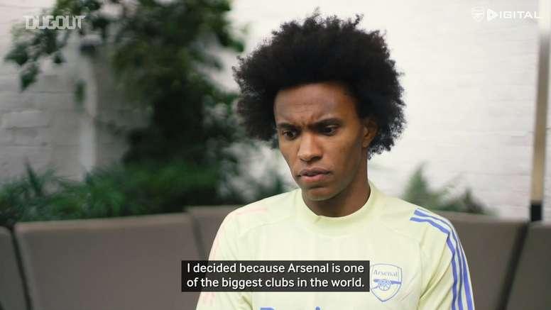 Willian's first Arsenal interview. DUGOUT