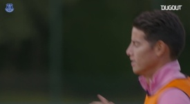 James trains with Everton. DUGOUT