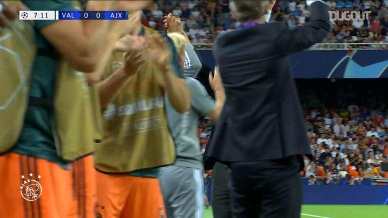 Hakim Ziyech scored a brilliant goal versus Valencia in the Champions League. DUGOUT