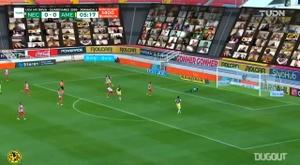Federico Viñas anotó un gran gol ante Necaxa. Captura/DUGOUT