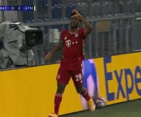 Bayern de Munique e seus gols nas três primeiras rodadas da Champions 2020/21. DUGOUT