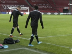 PAOK train at Philips Stadium ahead of Europa League clash. DUGOUT