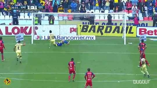 Osvaldo Martinez scored a penalty for America versus Chivas back in 2016. DUGOUT
