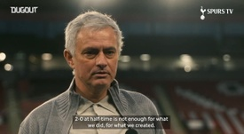 Mourinho: 'Another very good performance'. DUGOUT