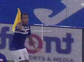 Gols de Luis Muriel pela Sampdoria. DUGOUT