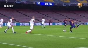 Pedri jogou apenas 27 minutos e fez um dos gols da vitória do Barcelona na Champions League. DUGOUT