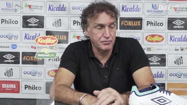Cuca analisou o empate do Santos contra o Botafogo pela 11ª rodada do Brasileirão. DUGOUT