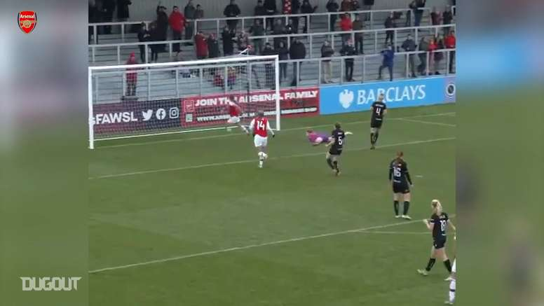 Evans' best moments for Arsenal Women. DUGOUT