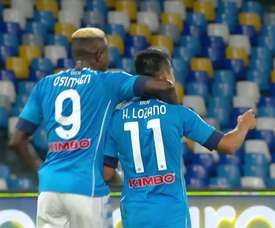 Hirving Lozano netted twice as Napoli thrashed Genoa 6-0. DUGOUT