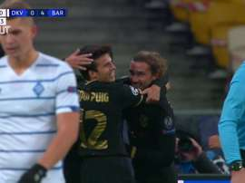Gol y celebración polémica de Griezmann. DUGOUT