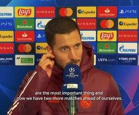 Hazard spoke after the match. DUGOUT