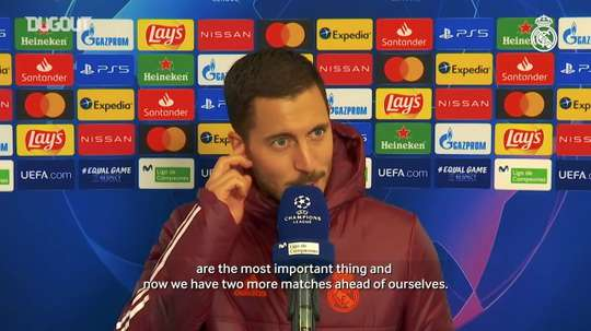 Hazard spoke after the match. DUGOUT