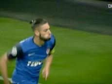 Le but de Carrasco contre Arsenal. Dugout
