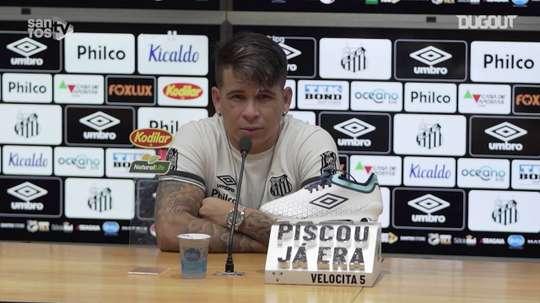 Soteldo concedeu entrevista após vitória sobre o Sport. DUGOUT