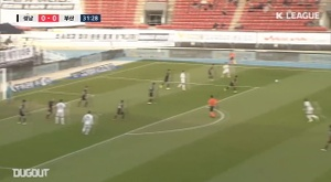 Lee Dong-jun's goal was not enough to keep Busan in the K-League. DUGOUT