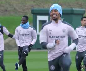 Manchester City prépare son affrontement contre l'Olympiakos. dugout