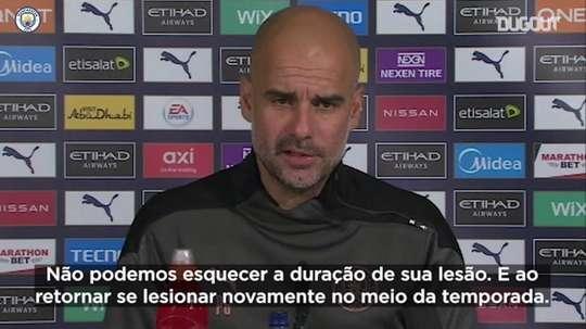 Guardiola elogia e analisa contrato de Agüero. DUGOUT