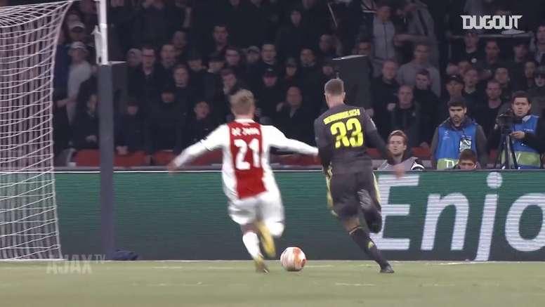 Melhores momentos de Frenkie de Jong pelo Ajax. DUGOUT
