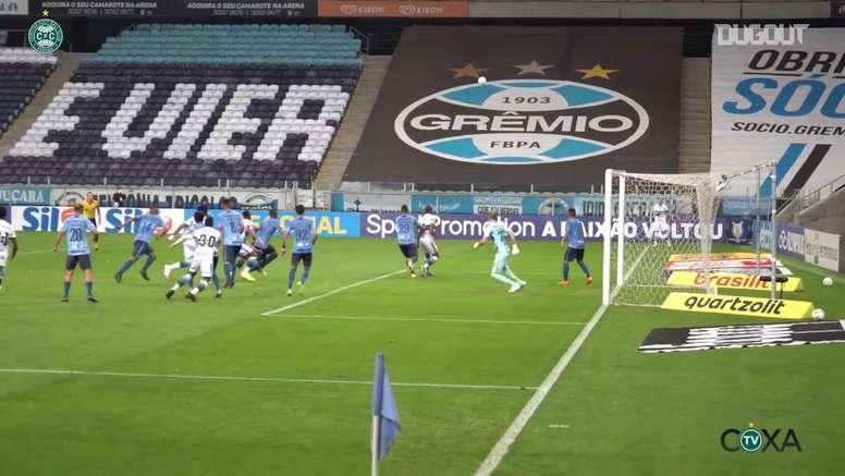 Nathanael's goal was not enough to give Coritiba a point at Gremio. DUGOUT
