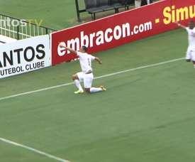 Le superbe but de Ricardo Oliveira avec Santos. DUGOUT
