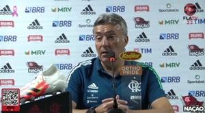 Domènec Torrent comentou sobre o momento dos goleiros do Flamengo. DUGOUT
