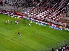 Nicolás Cordero rescató un punto ante Central Córdoba. DUGOUT