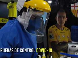 Barcelona's players were tested for coronavirus before returning to training. DUGOUT