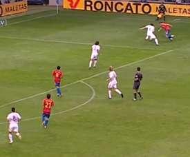 Xavi scored for Spain. DUGOUT