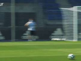 La sessione di allenamento del Real Madrid. Dugout