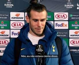 Em cobrança de pênalti, Gareth Bale abriu o placar para o Tottenham na Europa League. DUGOUT