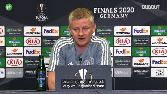 Solskjær spoke ahead of the match. DUGOUT