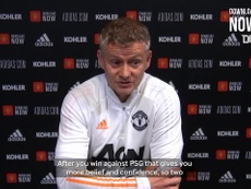 Solskjaer spoke ahead of the Chelsea match. DUGOUT