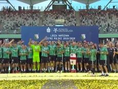 Il Legia Varsavia diventa campione. Dugout