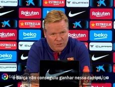 Quando Koeman analisou o jejum do Barça no Balaídos. DUGOUT