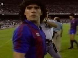El inolvidable paso de Diego Maradona por el Barcelona. DUGOUT
