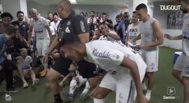 Santos garantiu sua vaga para uma final brasileira da Libertadores, contra o Palmeiras. DUGOUT