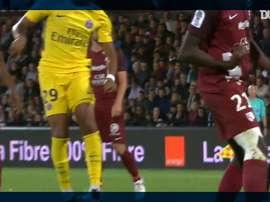 Mbappé has 100 goals for Paris Saint-Germain. DUGOUT