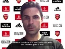 VIDEO: Arteta bemoans missed chances, questions Nketiah red card. DUGOUT