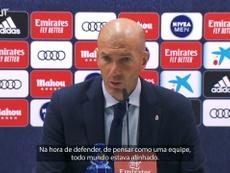 Zidane não quer saber de comemorar antes do tempo. DUGOUT