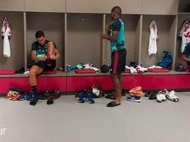 Bastidores do empate do Flamengo contra o Internacional. DUGOUT