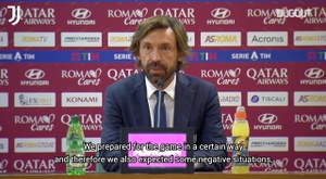 Pirlo talked about the draw. DUGOUT