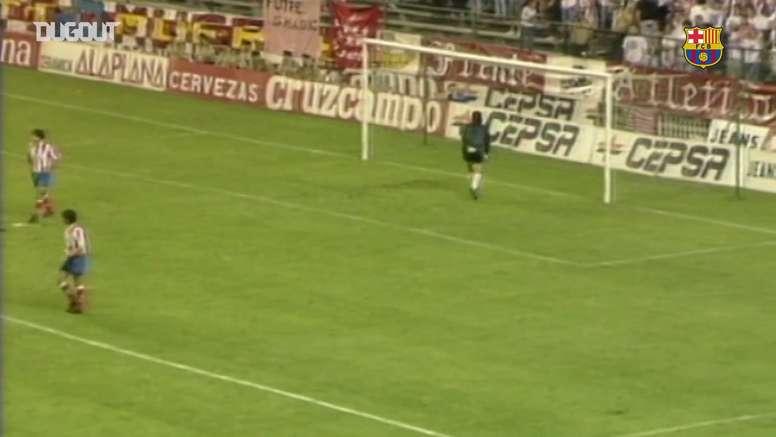 Les buts de Koeman contre l'Atlético Madrid. DUGOUT