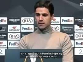 Arteta speaks ahead of the match. DUGOUT