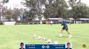 Club América crossbar challenge. DUGOUT