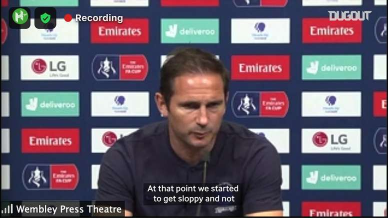 Lampard wasn't happy after the match. DUGOUT
