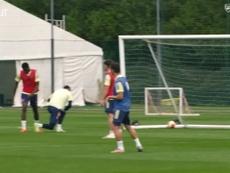 Aubameyang se destaca em treinos antes de decisão contra o Chelsea. DUGOUT