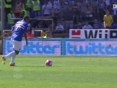 La rete di Fernando contro la Lazio. Dugout
