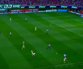Nicolas Castillo put America ahead at Chivas in 2019. DUGOUT
