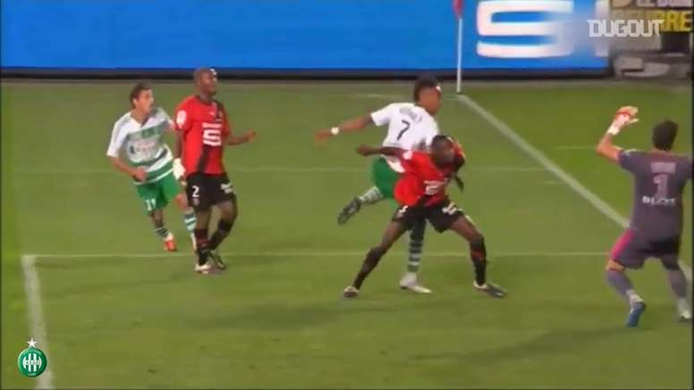 St Etienne have scored some cracking goals v Rennes over the years. DUGOUT