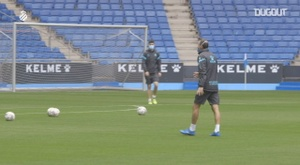 Espanyol are preparing for Sunday's clash with Alcorcon. DUGOUT